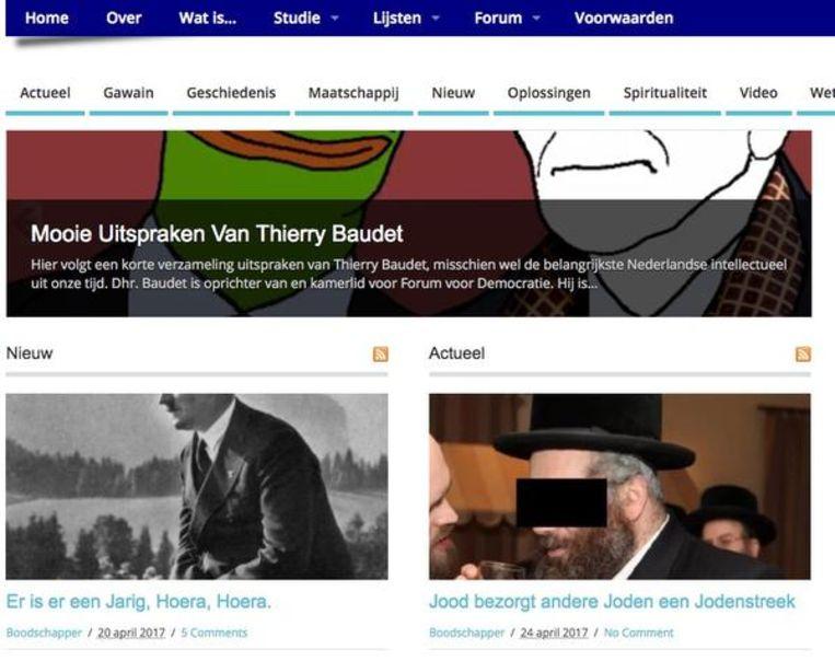 Screenshot altrechts.com Beeld Altrechts
