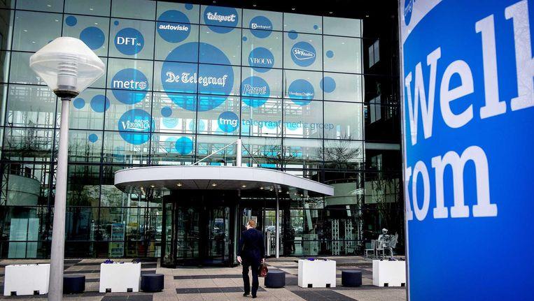 Het hoofdkantoor van de Telegraaf Media Groep in Amsterdam. Beeld anp