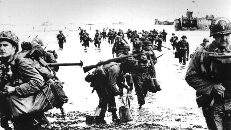 Foto van de landing in Normandië tijdens de Tweede Wereldoorlog, 6 juni 1944. Beeld anp