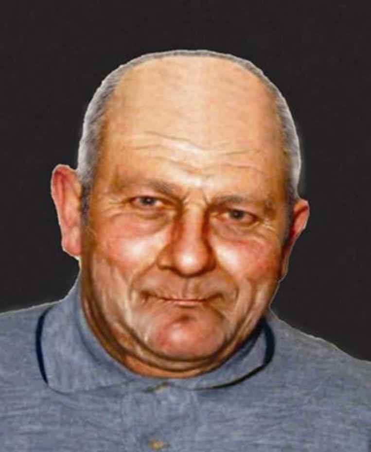 Compositietekening van de verdwenen verdachte Gustaaf Van de Veire