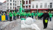 ACV protesteert tegen uitdoven vaste benoemingen met symbolische rouwstoet