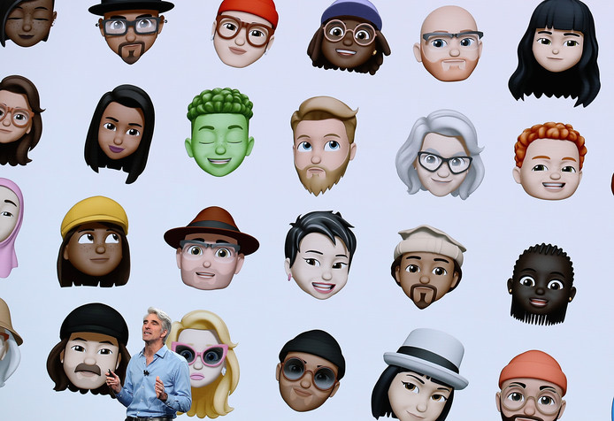 Nieuwe animoji voor de iPhone die je op jezelf kunt laten lijken.
