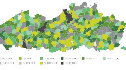 Deze kaart toont investeringen in schoolgebouwen per gemeente