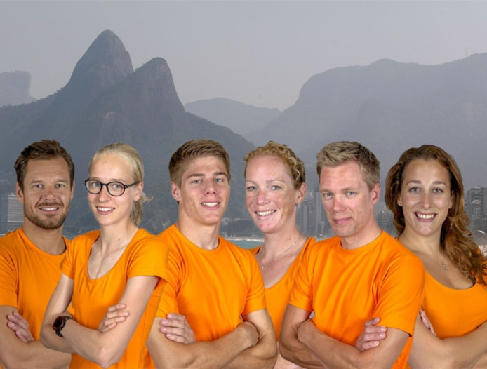 Van links naar rechts: Reinder Nummerdor, Jip Vastenburg, Niek Kimmann, Kirsten Wild, Wim Stroetinga, Elis Ligtlee