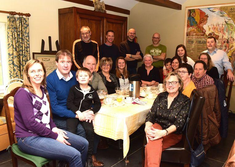 Een gezellig feestje bij Annie en Marcel in de Pastoriestraat