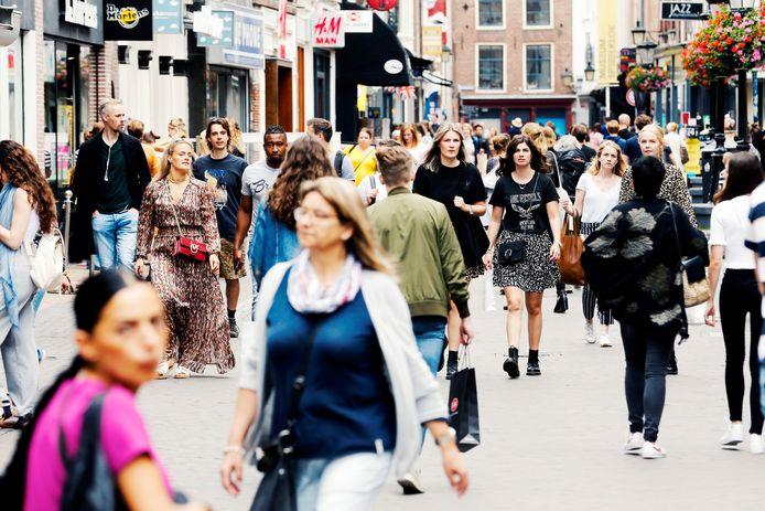 De drukte in de Utrechtse binnenstad leek de afgelopen weken soms als vanouds.