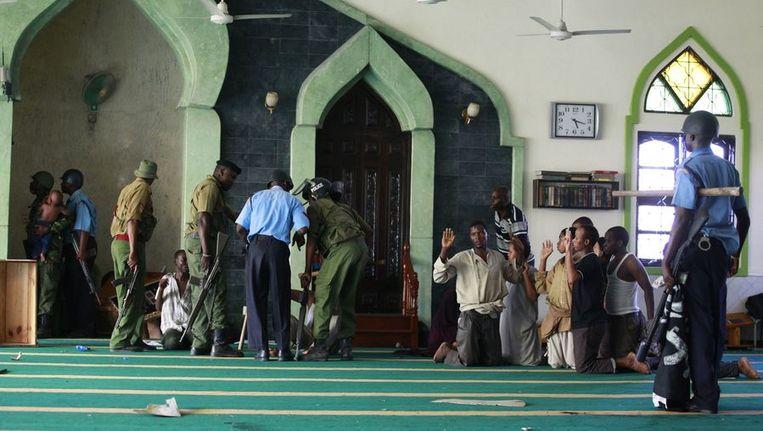 De Masjid Mussa-moskee gisteren. Beeld reuters