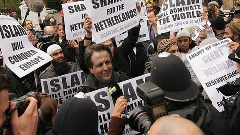 De bewerkte foto die Geert Wilders (PVV) op Twitter verstuurde naar zijn volgers. Beeld
