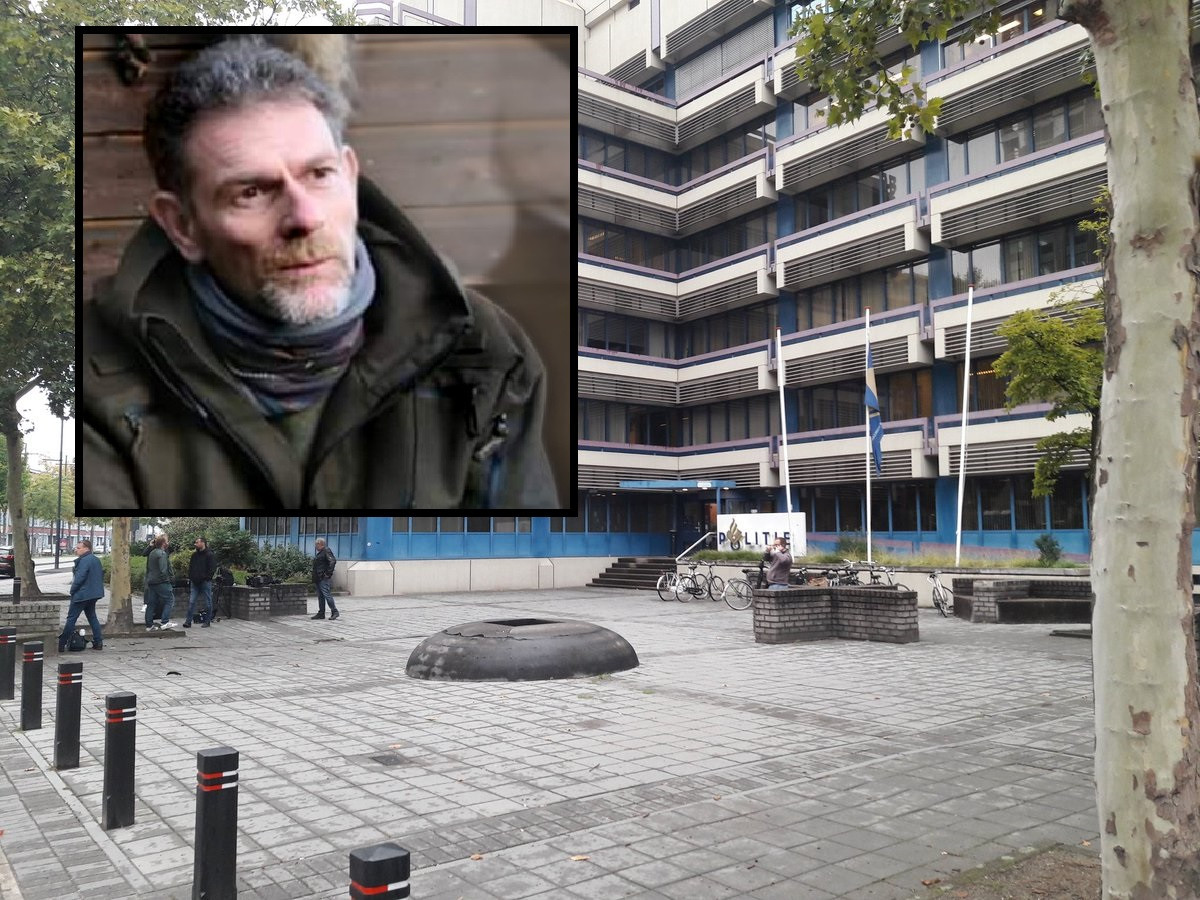 Het politiebureau aan de Mathildelaan in Eindhoven. Inzet: Jos Brech.