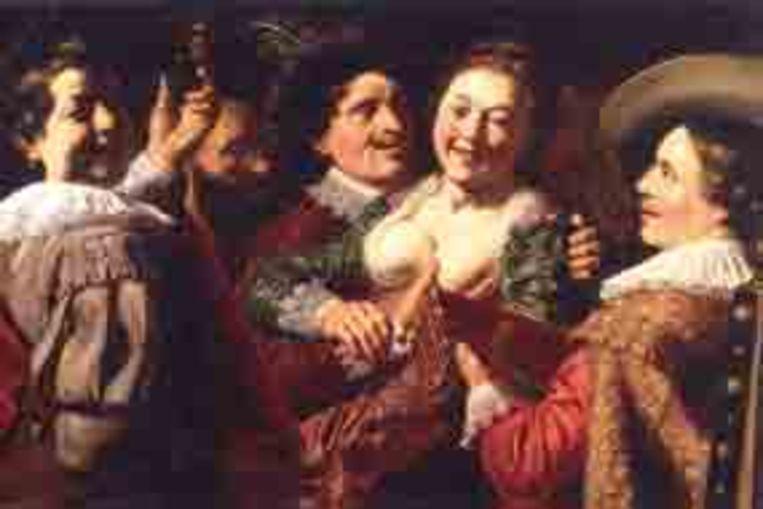 Lievens schilderde deze Allegorie op de vijf zintuigen in 1622, toen hij 15 jaar was. Beeld
