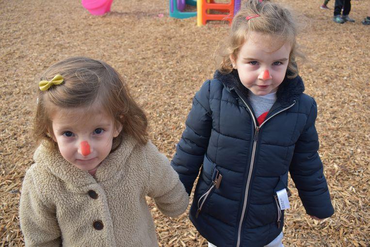 Heel wat kinderen hadden hun neus rood gekleurd.