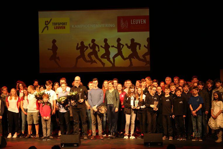 De Leuvense sportlaureaten.