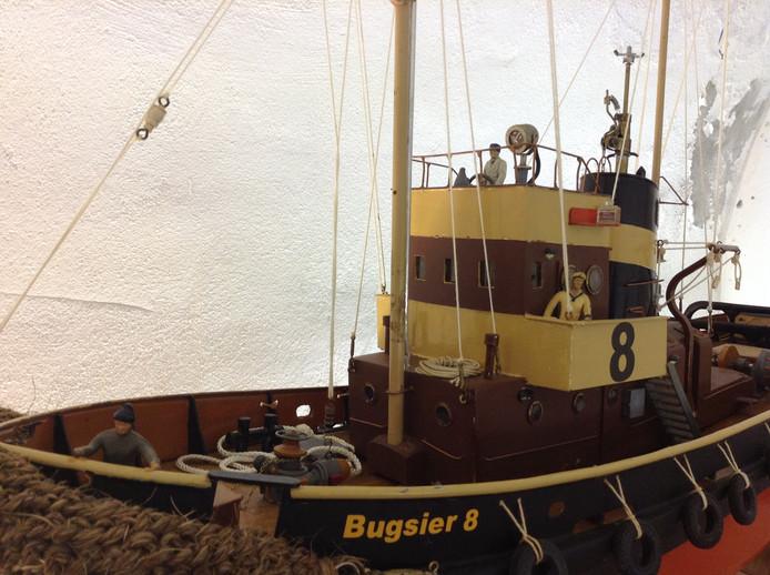 Modelbouwschepen, te zien in historische kelders in Grave.