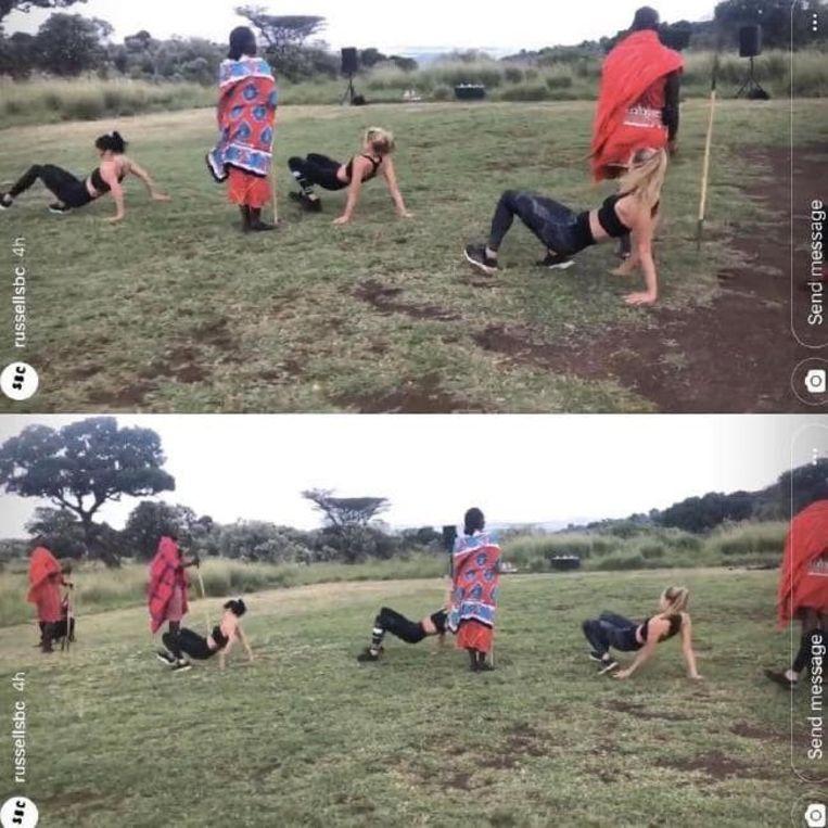 Een beeld uit de beruchte campagne die in Kenia werd geschoten.
