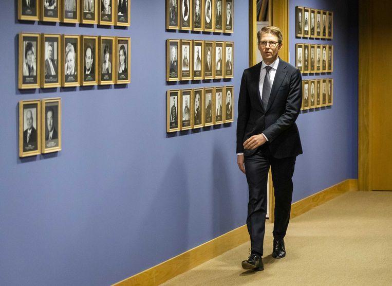 Minister Sander Dekker voor rechtsbescherming op de dag dat het rapport van de Onderzoeksraad voor Veiligheid zijn rapport over de zaak-Michael P.  publiceerde. Beeld ANP