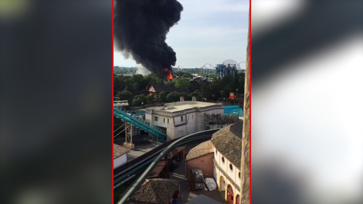 Enorme brand in Europa-Park