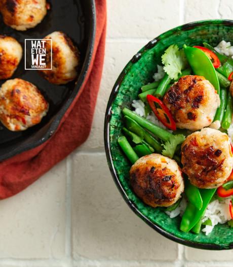 Wat Eten We Vandaag: Visballetjes met ketjapsaus
