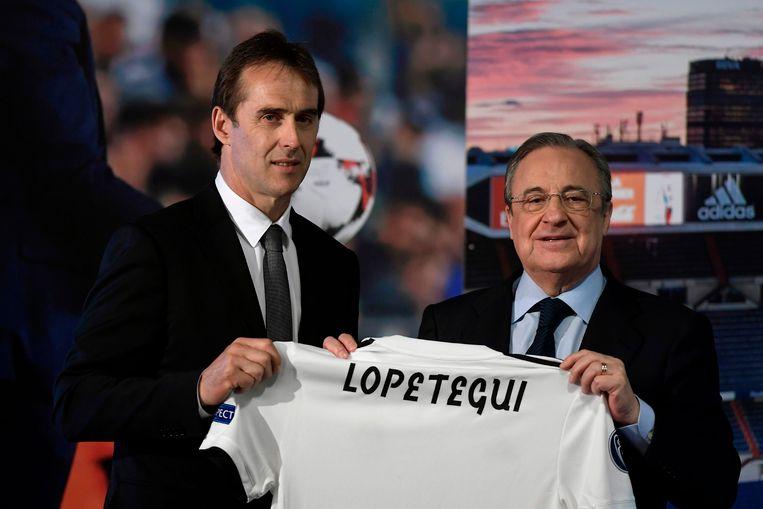 Florentino Perez stelde nog voor de Spaanse WK-start trots Julen Lopetegui voor als opvolger van Zidane.