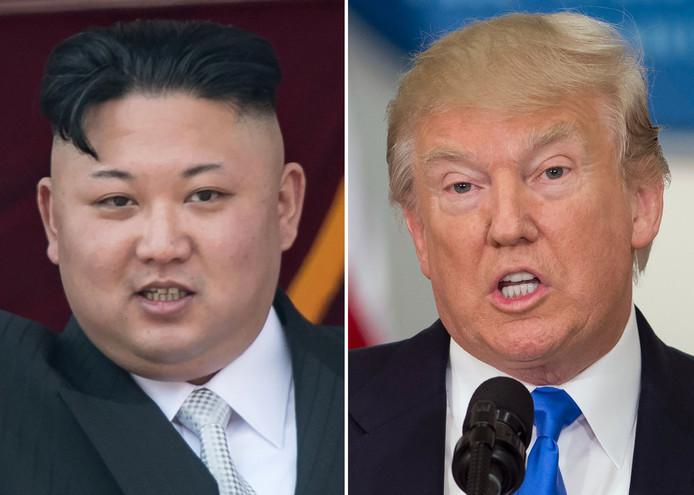 Kim Jong-un en Donald Trump