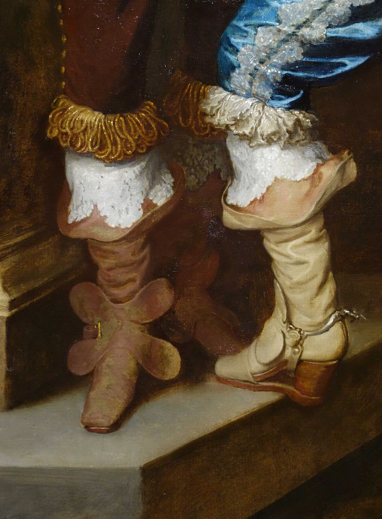 Detail uit dubbelportret van Lord John Stuart en zijn broer Lord Bernard Stuart, van Anthony van Dyck. Beeld Collectie National Gallery, Londen