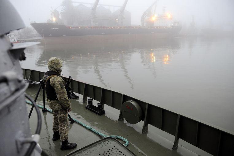 De haven van Marioepol. Beeld AFP