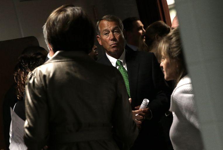 John Boehner, voorzitter van het Huis van Afgevaardigden. Beeld Getty Images