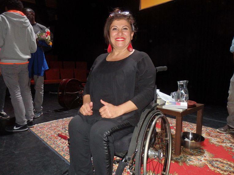 Funda Müjde, vrouwelijke rolstoeler van Turkse komaf. 'Drie minderheidsgroepen in één mens' Beeld Schuim