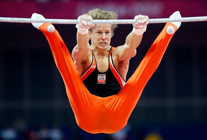 Epke Zonderland in actie op de Olympische Spelen.