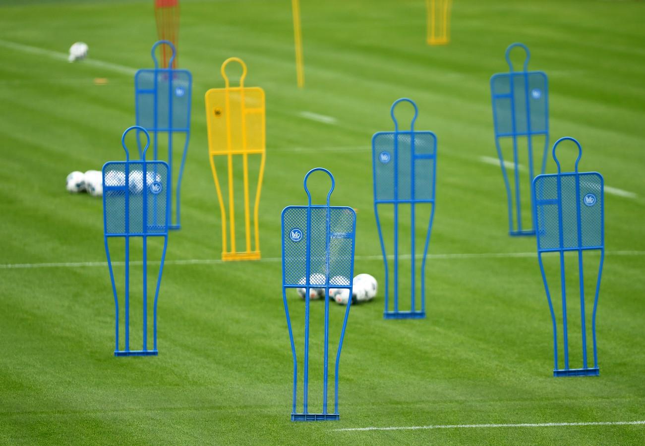 Trainingsdummies bij Bayern München.