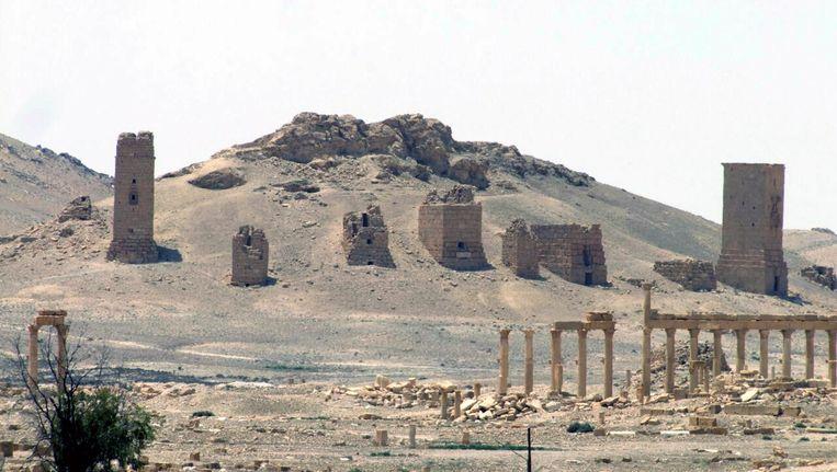 The antieke Syrische stad Palmyra op 17 mei 2015.