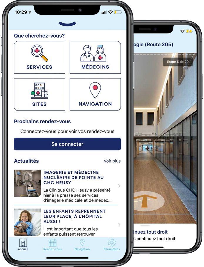 La SmartApp CHC devrait aider les patients et les visiteurs à naviguer dans l'hôpital.