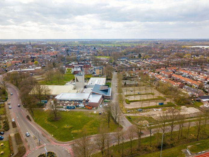 Het Fitland-complex in Gemert, met links de Lodderdijk.