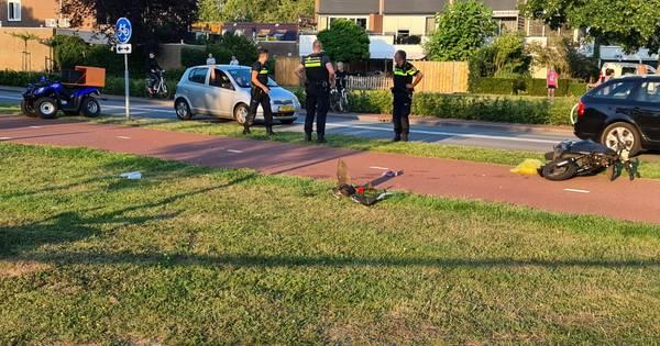 Bestuurder snorscooter zwaargewond bij botsing met quad op fietspad Huissen.
