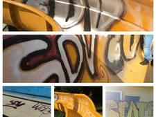 Vandalen bekladden Bosbad met graffiti