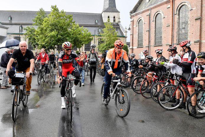 Brengt de feestzone op het marktplein in Hamme geluk voor Greg Van Avermaet op zondag 2 april?