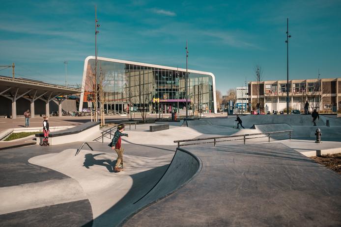 Het skatepark dinsdagmiddag