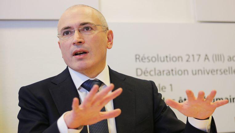 Michail Chodorkovski, net na zijn vrijlating in december 2013. Beeld EPA