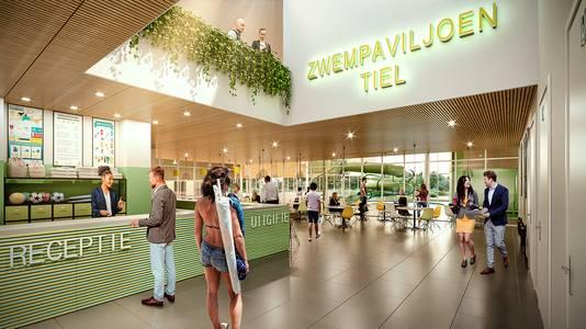 Voorlopig ontwerp (2018) van het interieur van het nieuwe zwembad in Tiel