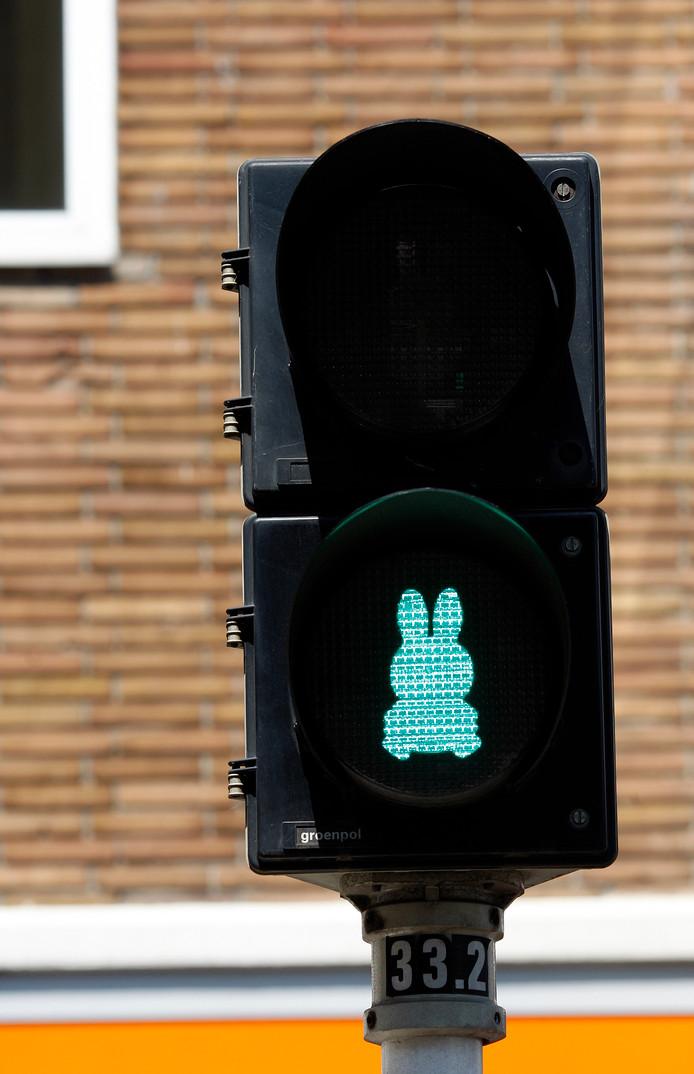 Het verkeerslicht met nijntje in Utrecht