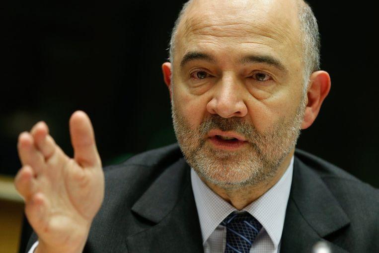 Pierre Moscovici, Europees commissaris, verantwoordelijk voor Economische en financiële zaken Beeld epa