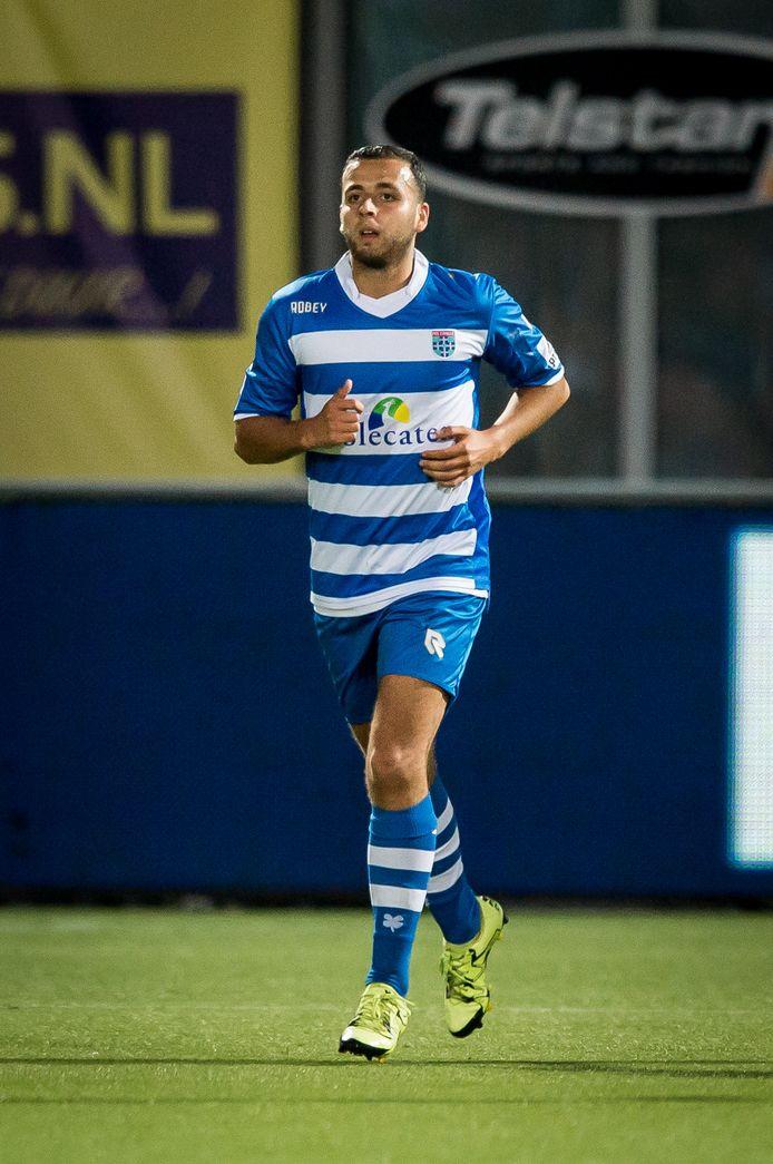 Archiefbeeld van Abdel Malek El Hasnaoui, toen nog in dienst bij PEC Zwolle (2015-2016)