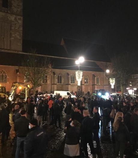 Paar honderd boeren en bouwers protesteren in Winterswijk tegen strenge stikstofregels