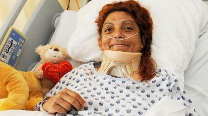 """Vrouw die zes dagen overleefde in autowrak mag ziekenhuis verlaten: """"Maar de revalidatie zal nog lang duren"""""""