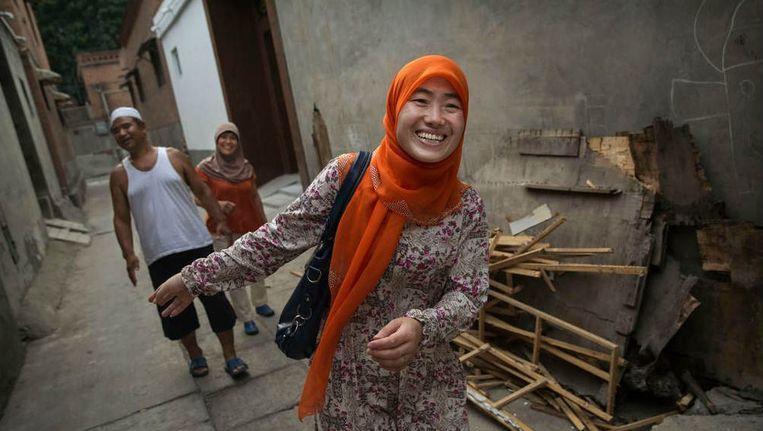 Een vrouwelijke imam in Zhengzhou Beeld getty