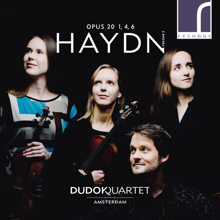 Klassiek Dudok Quartet Amsterdam Joseph Haydn Quartets, opus 20 vol. 2 (Resonus) Beeld