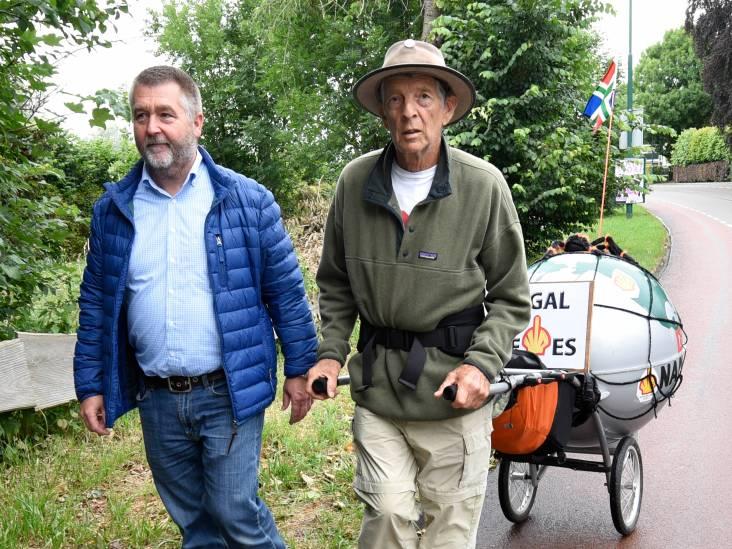 Wandelend protest tegen gaswinning in Woerden