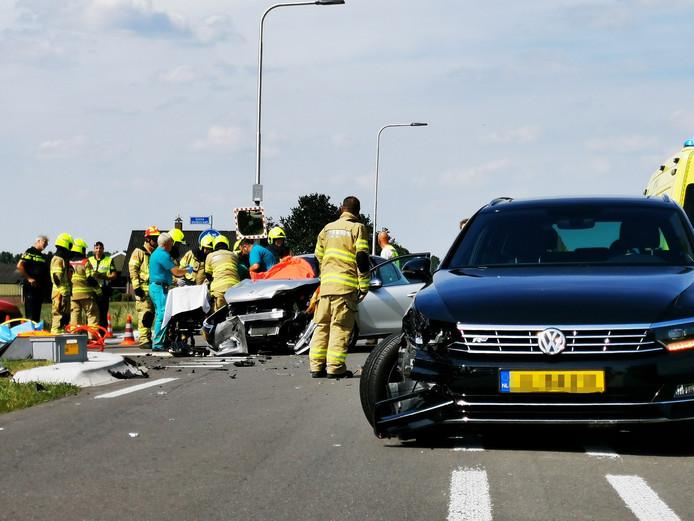 De situatie na het ongeval bij Angerlo.