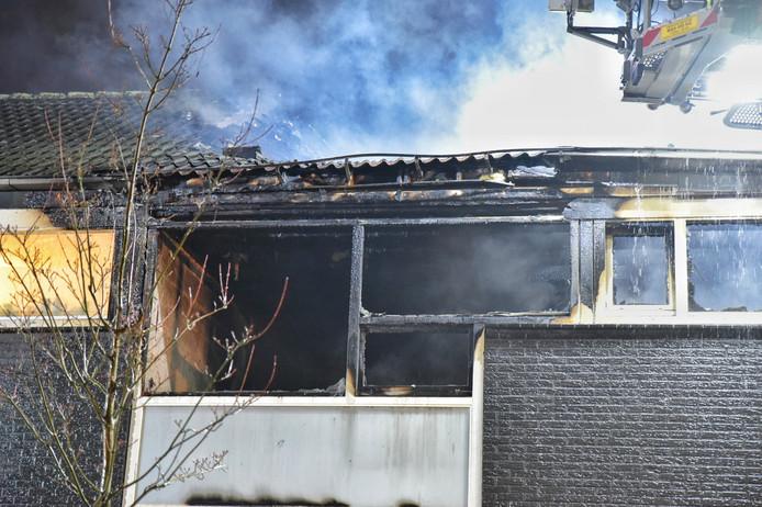De schade is groot na de brand