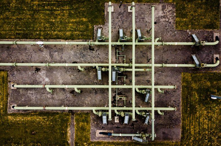 Gaswinningslocatie van de NAM in Muntendam. Het kabinet heeft besloten om in 2022 een einde te maken aan de gaswinning in de provincie Groningen. Beeld ANP