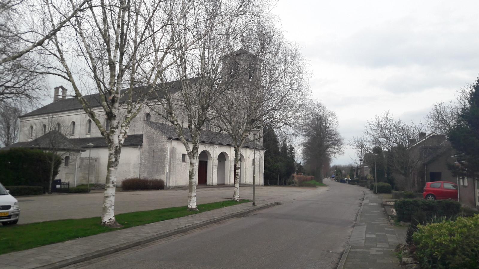 De kerk in De Horst.
